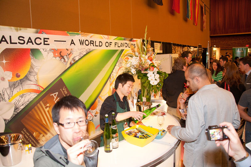Bistro Alsace Booth at VIWF 2010