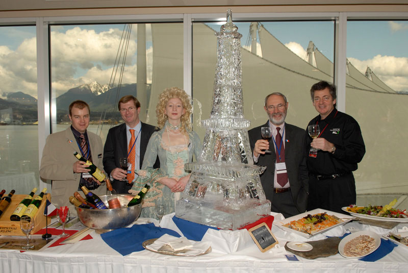 Wines of France Eiffel Ice Sculpture VIWF 2006