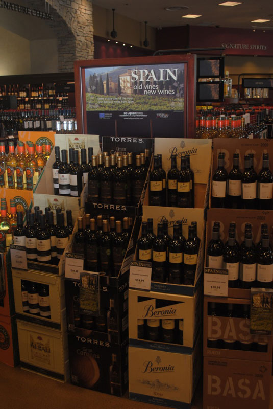 Wines from Spain Display Cambie and 39th